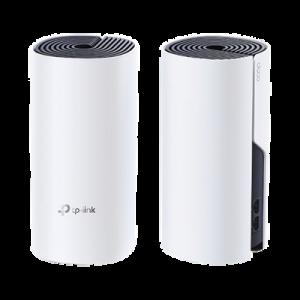 KIT de sistema inalámbrico y HomePlug AV1000, Deco P9 mesh híbrido para hogar, doble banda AC, doble puerto Gigabit, 2 antenas internas compatible con Alexa.