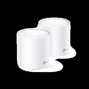 KIT de sistema inalámbrico Deco X60 mesh para hogar, doble banda Wi-Fi 6 (AX), doble puerto Gigabit, 4 antenas internas y compatible con amazon alexa