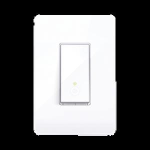 Interruptor Inteligente Wi-Fi, 100 - 120V~, 50/60Hz, 15.0A, compatible con Amazon Alexa y Google Assistant, color blanco.