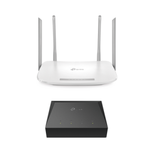 Kit de ONU Gigabit XZ000G3 con Router Router Inalámbrico ISP doble banda AC, Hasta 1167 Mbps, 4 antenas externas omnidireccional, Puertos Gigabit