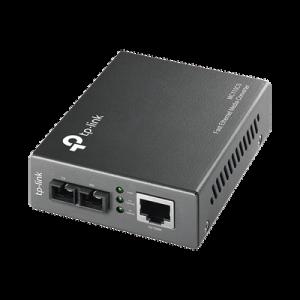 Convertidor Multimedia Mono-modo, 1 puerto RJ45 10/100 Mbps, conector de fibra SC, hasta 20 km