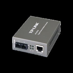 Convertidor Multimedia Multi-modo, 1 puerto RJ45 1000 Mbps, conector de fibra SC, hasta 500 M