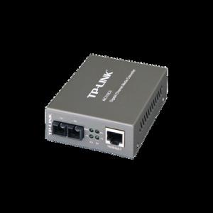 Convertidor Multimedia Mono-modo, 1 puerto RJ45 1000 Mbps, conector de fibra SC, hasta 15 Km