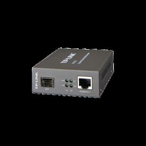 Convertidor Multimedia SFP Gigabit, 1 Puerto RJ45 1000 Mbps, 1 Puerto SFP, hasta 550 M en fibra multimodo y 10 Km en fibra monomodo