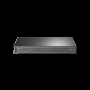 Switch PoE JetStream Administrable 8 puertos 10/100/1000 Mbps + 2 puertos SFP, 8 puertos PoE, 61W