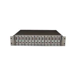Chasis para montaje en rack de 14 bahías para convertidores de medios, con soporte para fuente redundante V 3.0