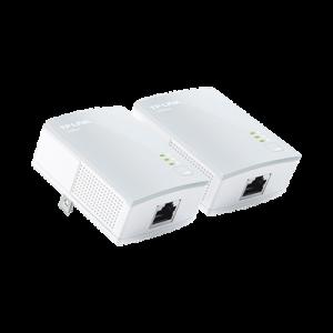 Kit Adaptador Powerline Ethernet, tecnologia HomePlug AV, 500Mbps, Plug and Play, hasta 300 M dentro de casa, 1 Puerto 10/100 Mbps y tamaño ultra compacto