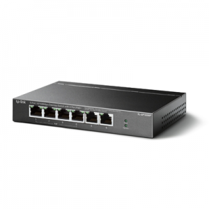 Switch PoE no Administrable de escritorio 6 puertos 10/100 Mbps, 4 puertos PoE, 67 W