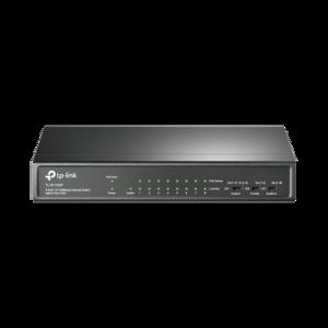 Switch PoE no Administrable de escritorio 9 puertos 10/100 Mbps, 8 puertos PoE, 65 W