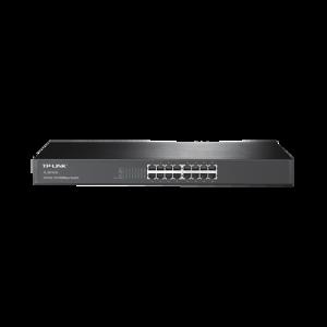 Switch no administrable de 16 puertos 10/100 Mbps para montaje en rack