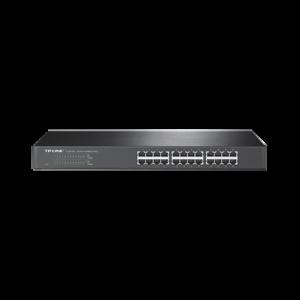 Switch no administrable de 24 puertos 10/100 Mbps para montaje en rack