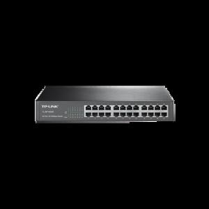 Switch no administrable de 24 puertos 10/100 Mbps para escritorio/rack