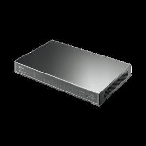 Switch PoE JetStream SDN Administrable 8 puertos 10/100/1000 Mbps + 2 puertos SFP, 8 puertos PoE, 61W, administración centralizada OMADA SDN