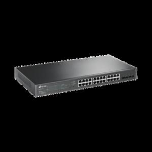 Switch PoE JetStream SDN Administrable 24 puertos 10/100/1000 Mbps + 4 puertos SFP, 24 puertos PoE, 250W, administración centralizada OMADA SDN