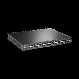 Switch PoE+ JetStream SDN Administrable 48 puertos 10/100/1000 Mbps + 4 puertos SFP, 48 puertos PoE+, 384W, administración centralizada OMADA SDN