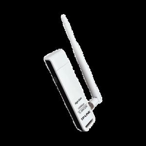 Adaptador USB inalámbrico de alta ganancia N 150 Mbps 2.4 GHz con 1 antena desmontable de 4dBi